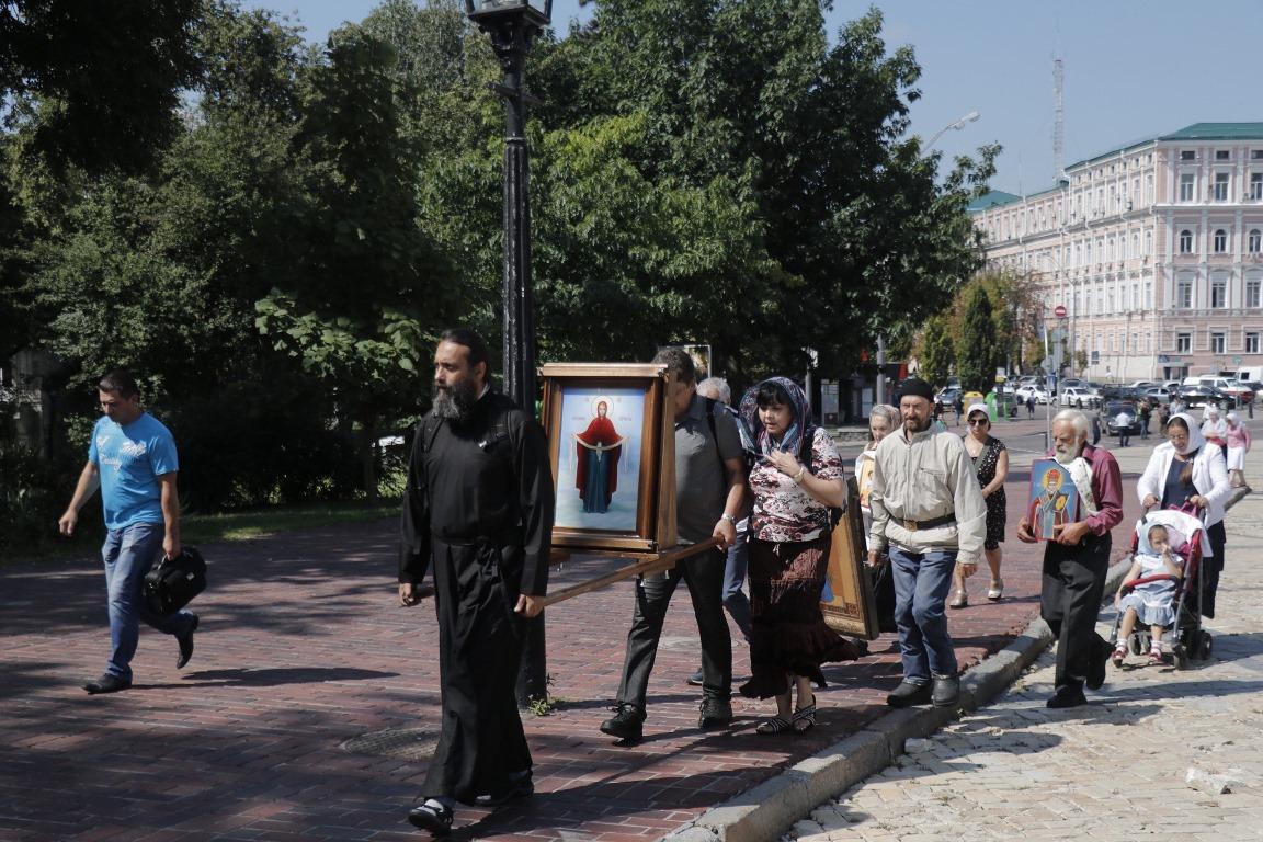 Картинки по запросу После молебна, который прошёл на Владимирской горке УПЦ 2019
