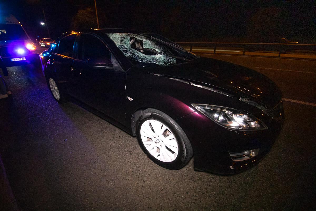 На проспекте Победы произошла авария с участием пешехода и автомобиляMazda 6