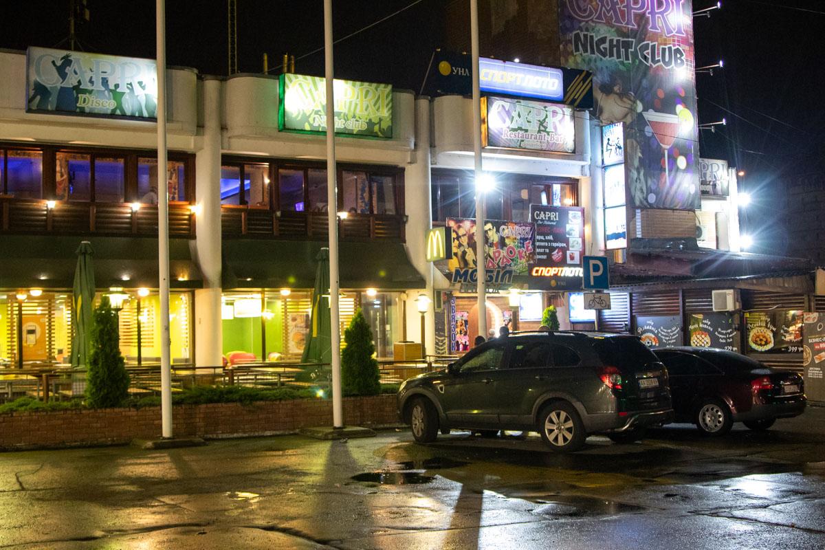 На Троещине в ресторане Capri по адресу улица Теодора Драйзера, 4а произошла стрельба