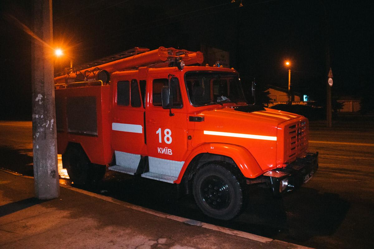 На месте работали две единицы техники спасателей