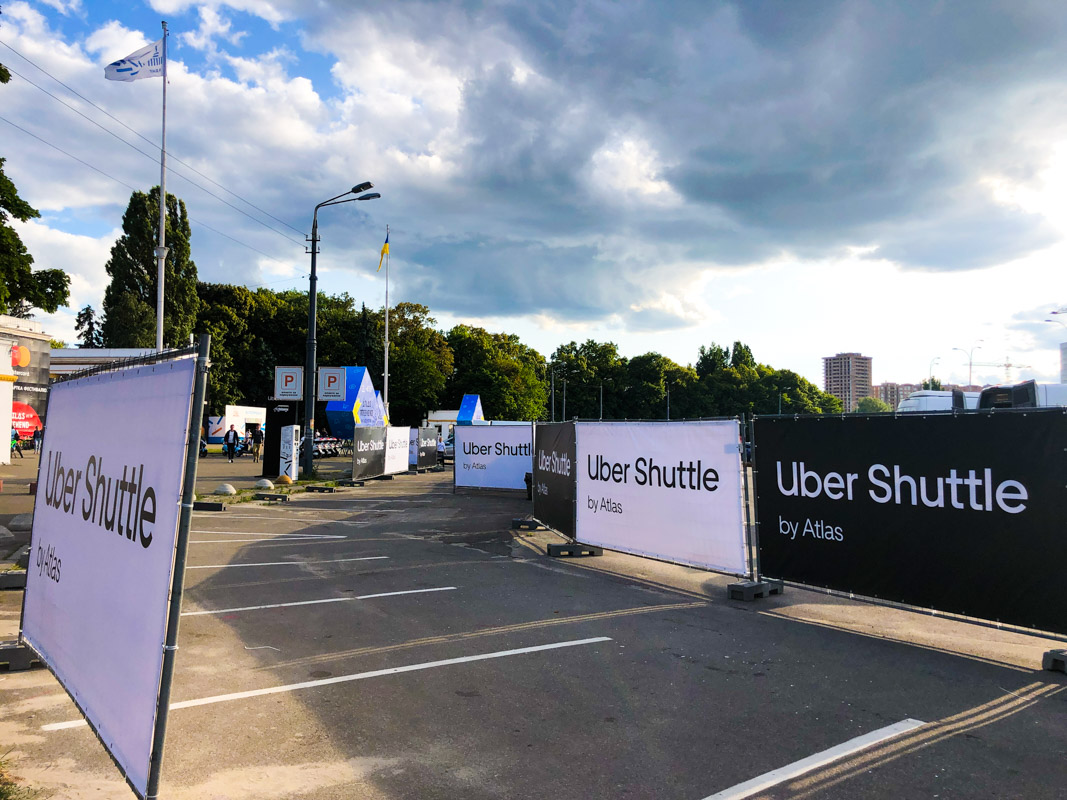 Возле ВДНГ подготовили зону посадки на Uber Shuttle