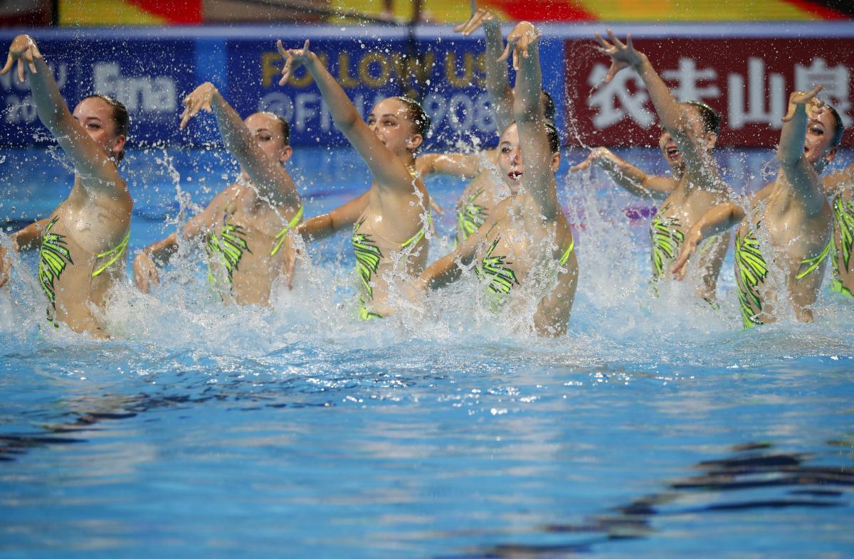 Чемпионат мира по синхронному плаванию завершился для Украины с шестью медалями