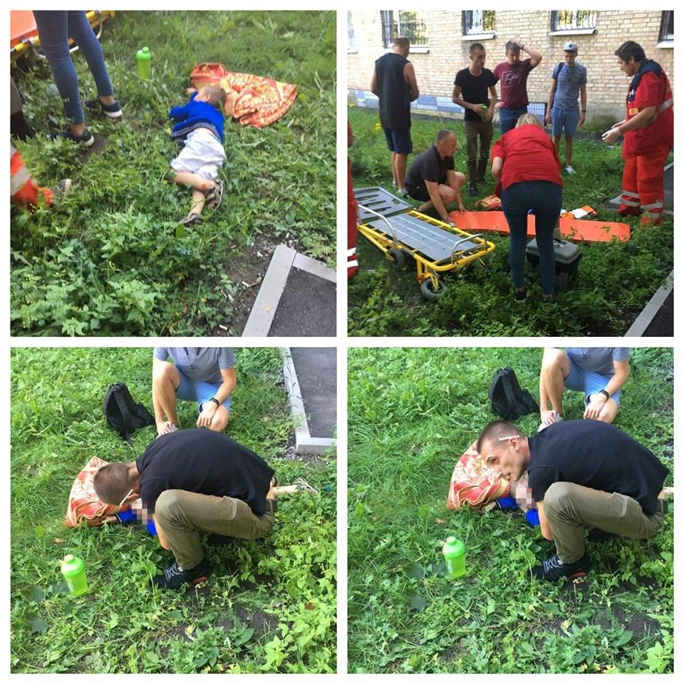 В Вишневом 4-летний мальчик выпал из окна пока пьяная мать спала в квартире