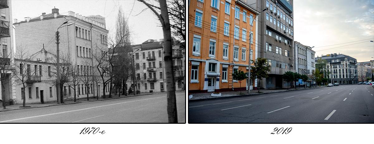 А вот эта улица практически не изменила с тех пор