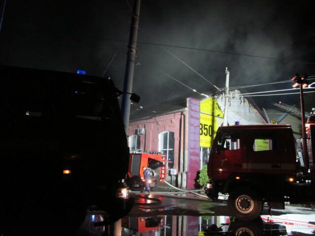 Ночью в Одессе загорелся отель