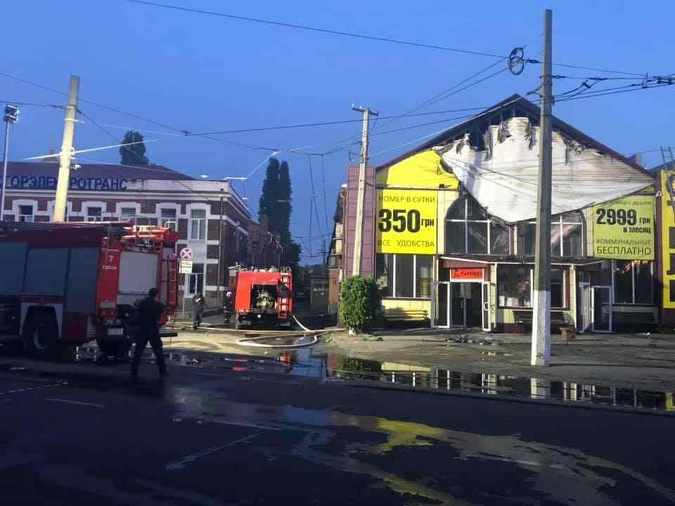 Полиция уже начала уголовное производство по факту пожара