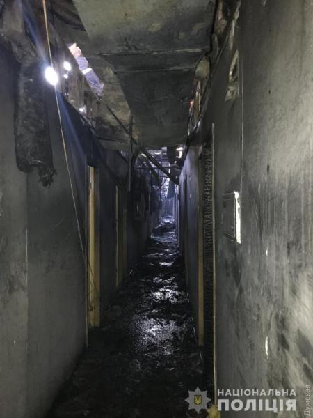 Вот так выглядит коридор отеля после пожара