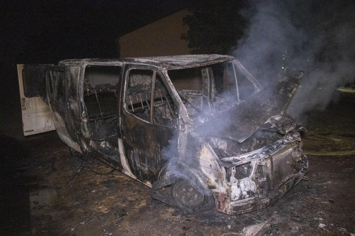 В ночь на 27 августа в Киеве через дорогу от здания по адресу улица Электриков, 8 произошел пожар