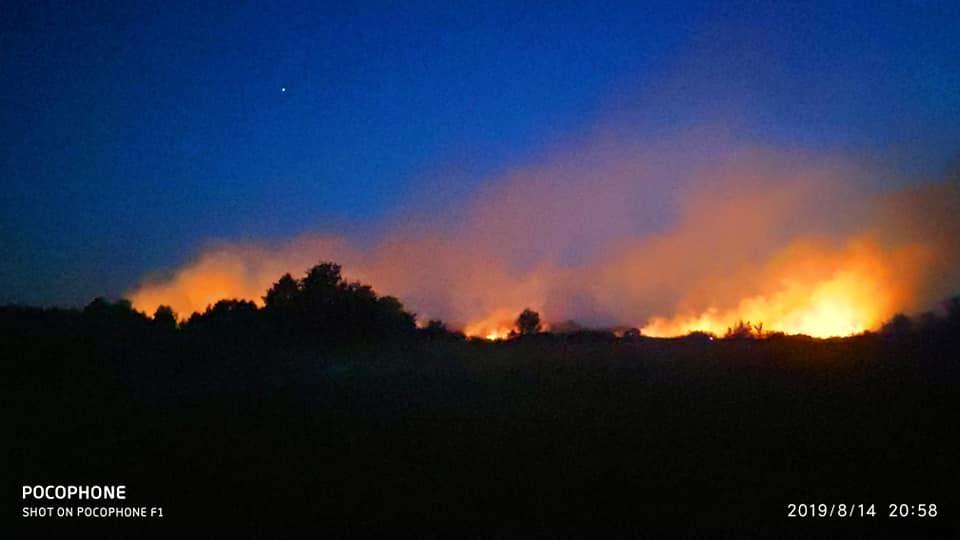 Возгорание произошло утром в среду, 14 августа
