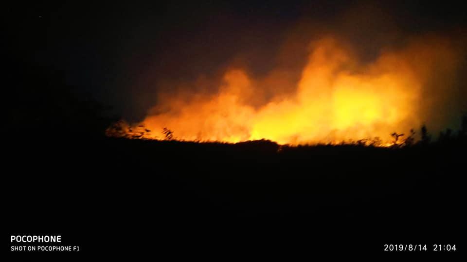 Люди опасаются, что пожар может вскоре распространиться на жилые строения села