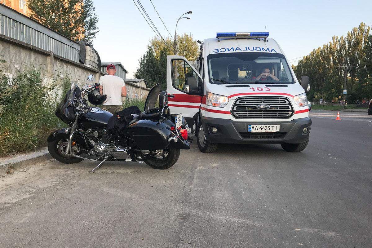 К счастью, мотоциклист не пострадал