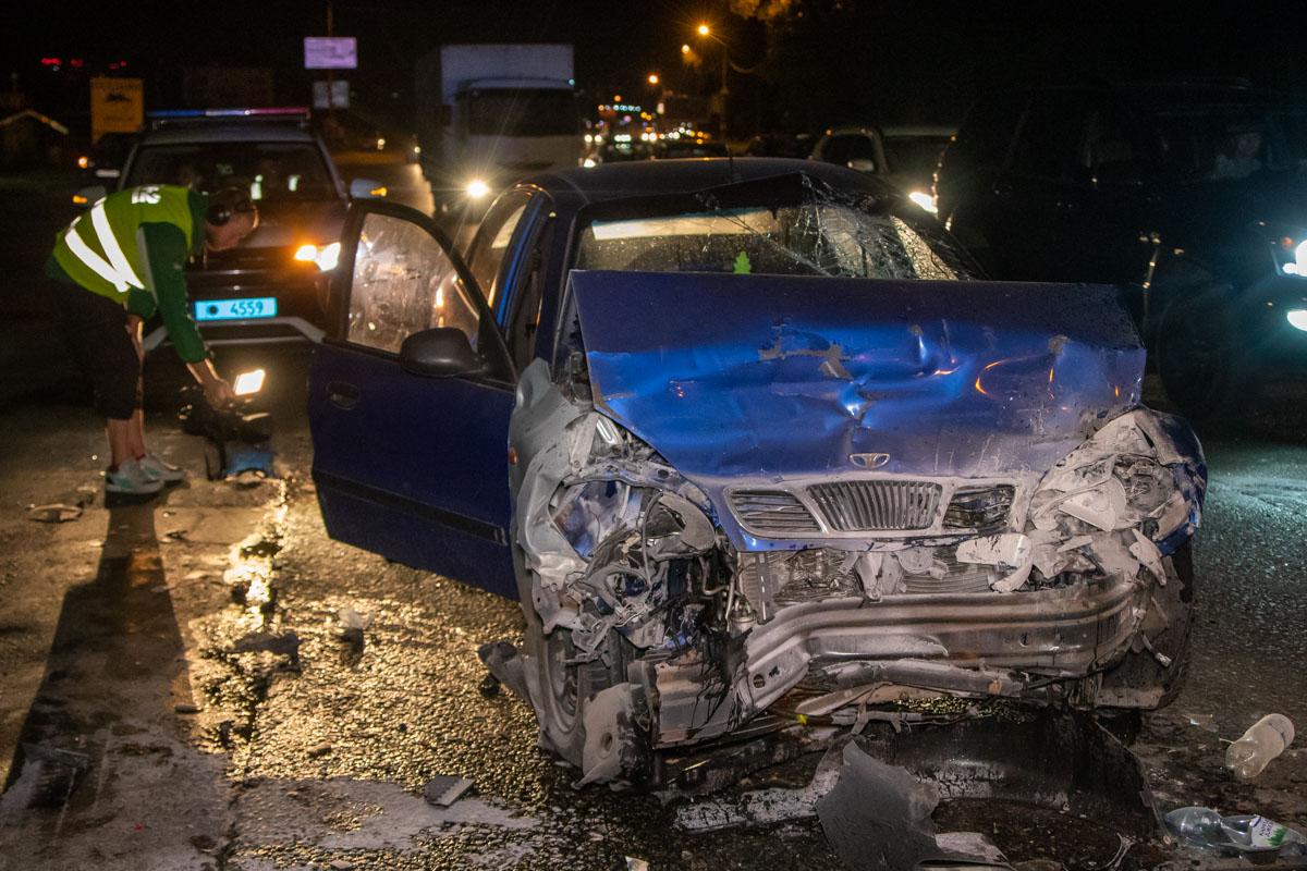 При въезде на Жулянский мост произошла авария с участием автомобилейDaewoo Lanos и Honda Pilot