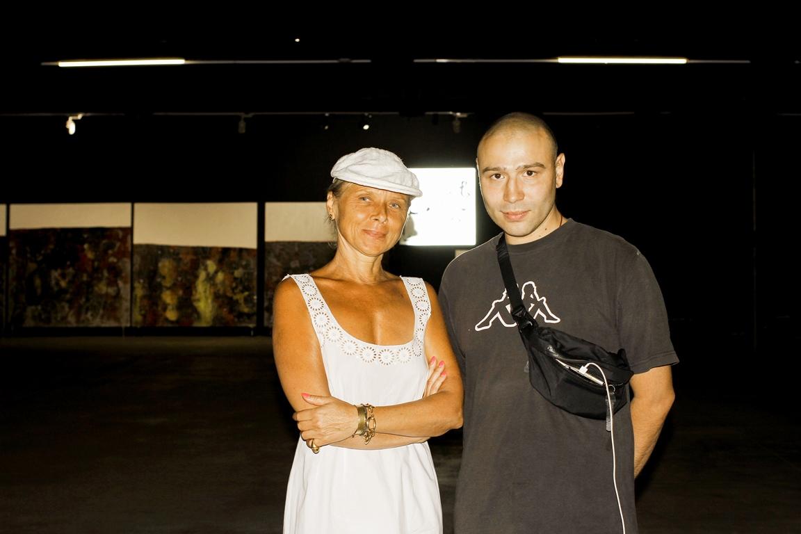 Татьяна Миронова, директор галереи Лавра и Борис Кашапов, один из авторов проекта Blue Monday