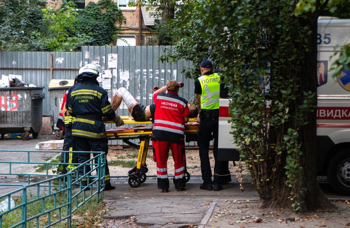 Мужчину госпитализировали в больницу