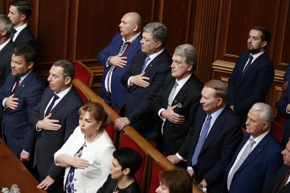 Экс-президенты Леонид Кравчук, Леонид Кучма, Виктор Ющенко и Петр Порошенко