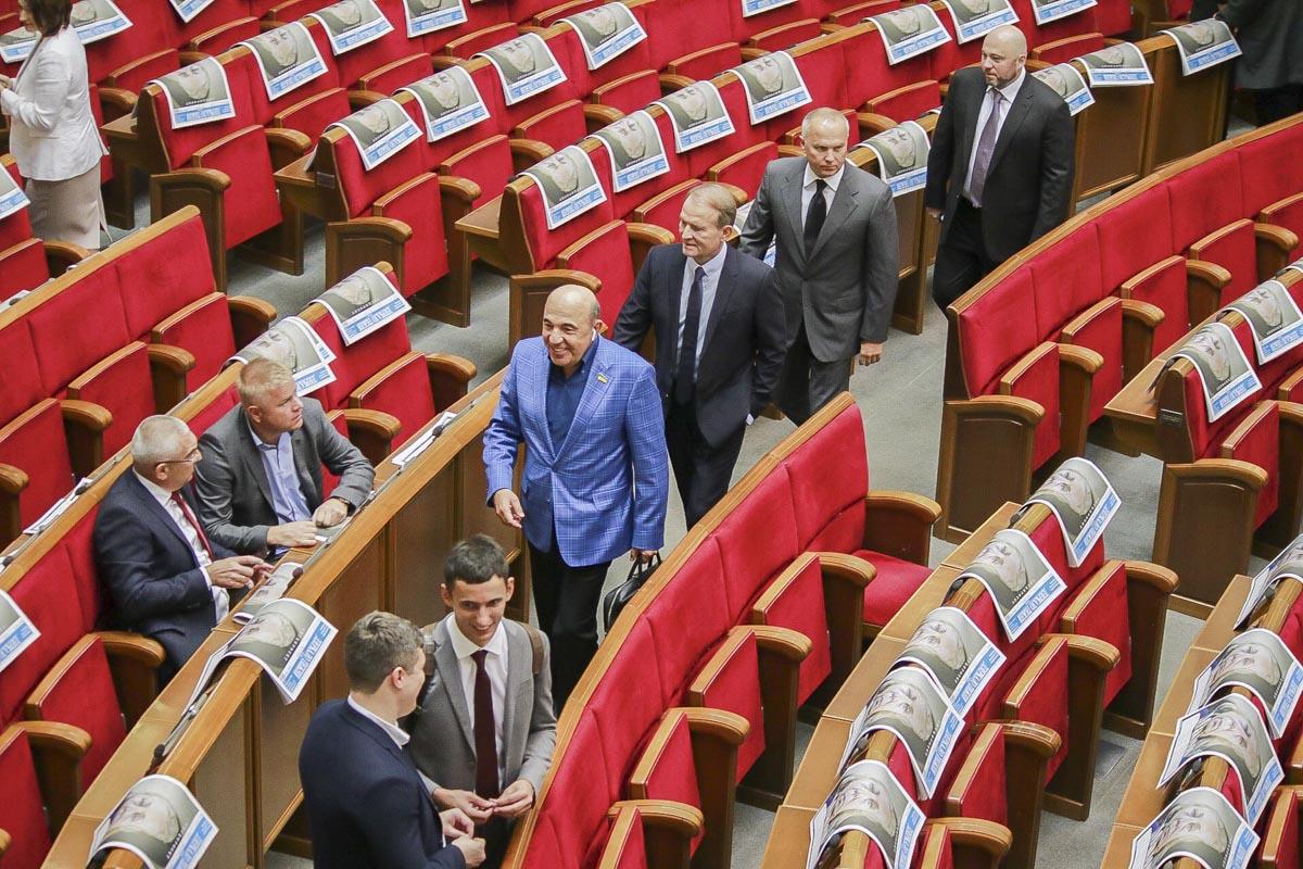 Рабинович, Медведчук и Шуфрич пришли в зал заседаний втроем