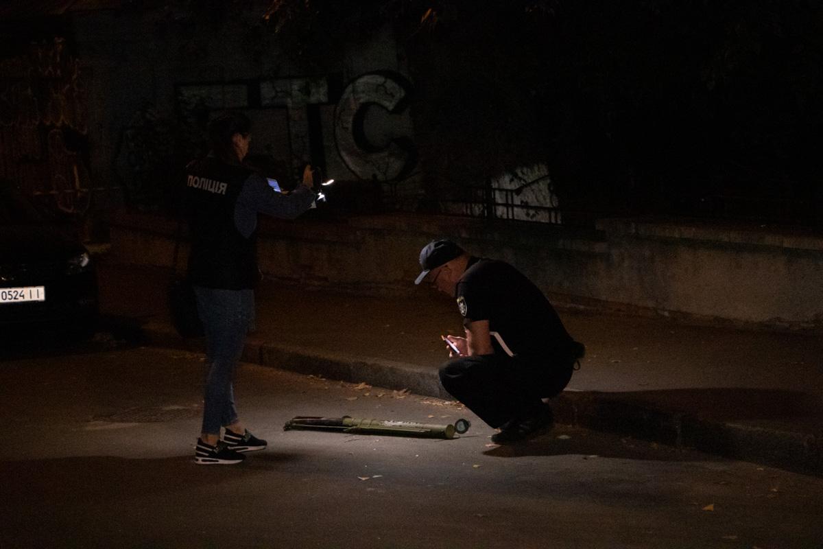 Тубус от гранатомета лежал посреди проезжей части