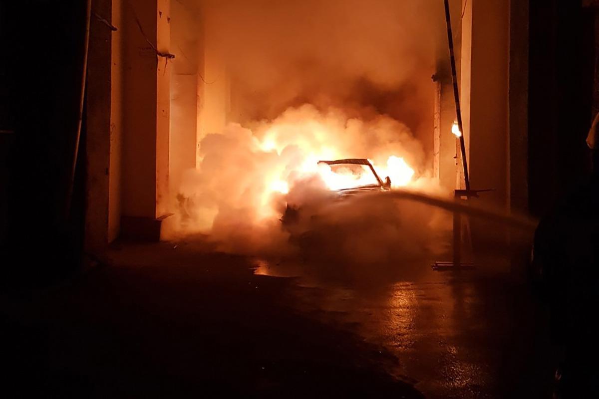 В четверг, 5 сентября, в центре Киева произошел пожар