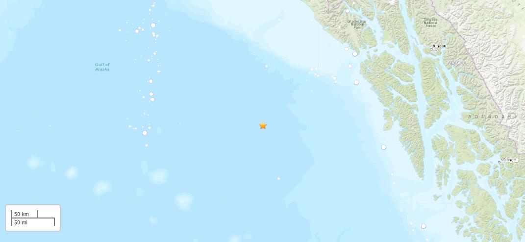 Магнитуда землетрясения составила 5,7 баллов