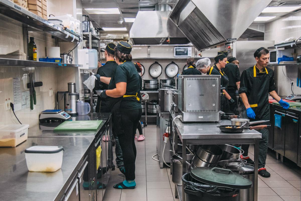 Чистоту на кухню проверяет комиссия каждую неделю