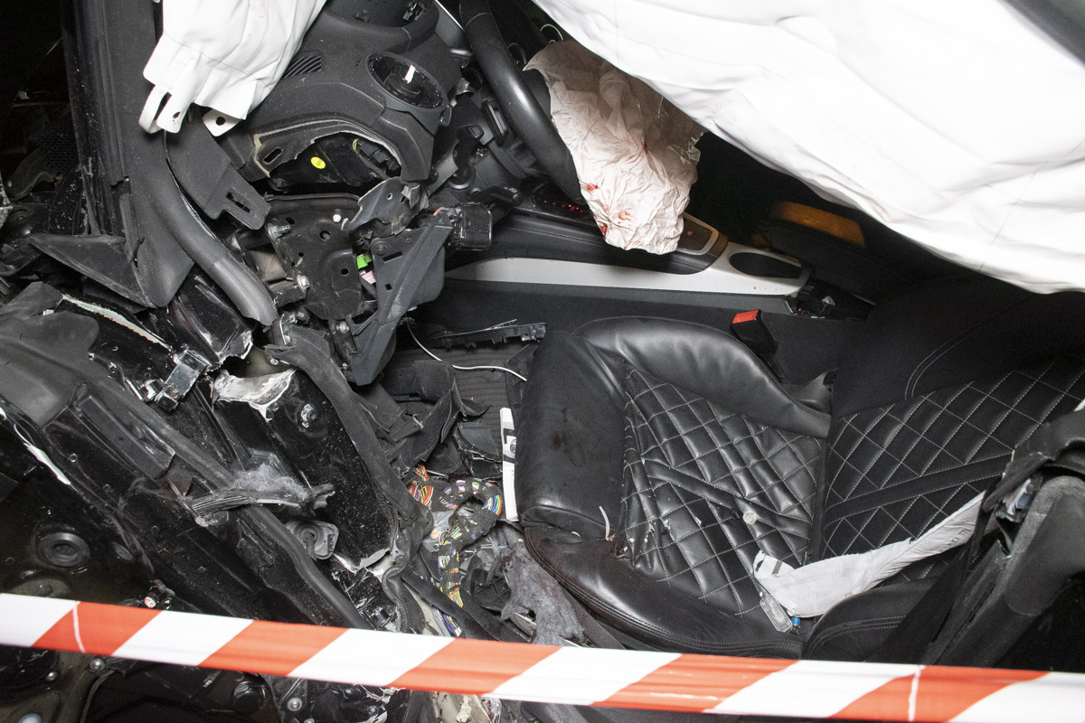 Салон Audi оказался в крови