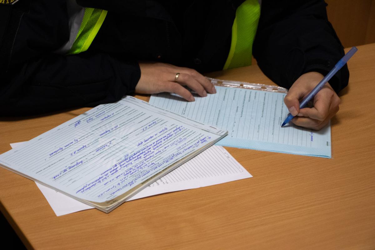 Копы оформили на любительницу ночных развлечений административные материалы по статьям №124, №130 и №185