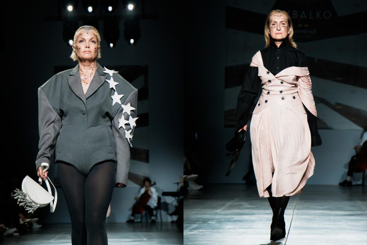 Некоторые модели появились на подиуме в смелых коротких нарядах