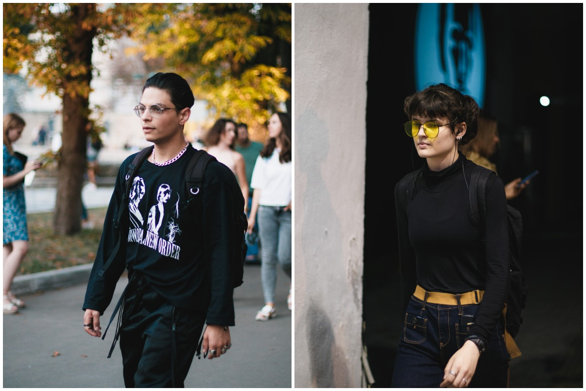 Еще один тренд очки с прозрачными или яркими линзами