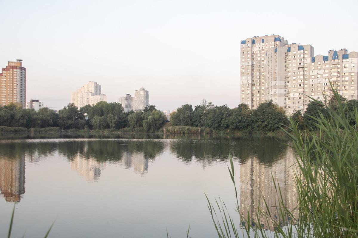 Пока что территория вокруг озера выглядит нетронутой - до старта работ еще далеко
