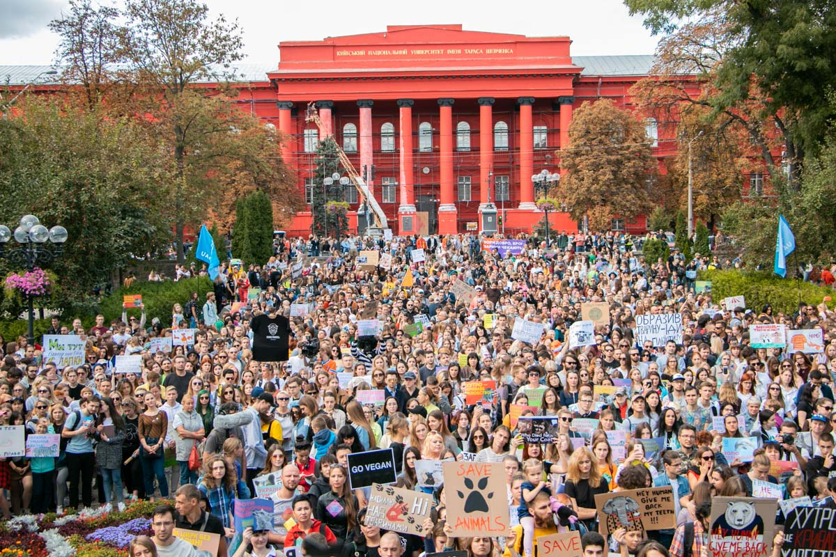 На акцию в защиту животных пришли тысячи людей