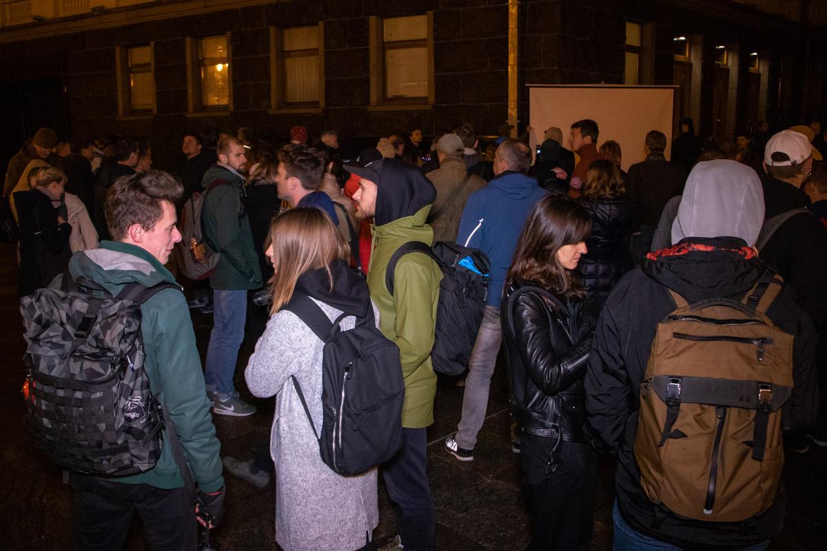 На акцию пришли 150 человек