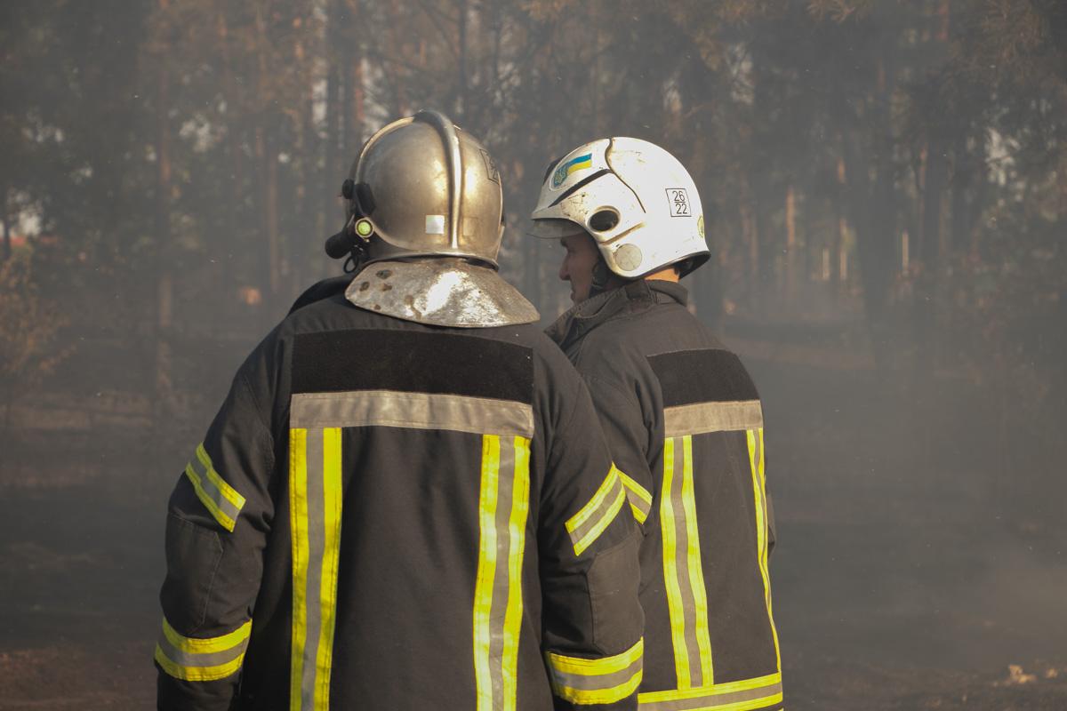 Чтобы не дать огню распространиться, пожарные задействовали спецтехнику