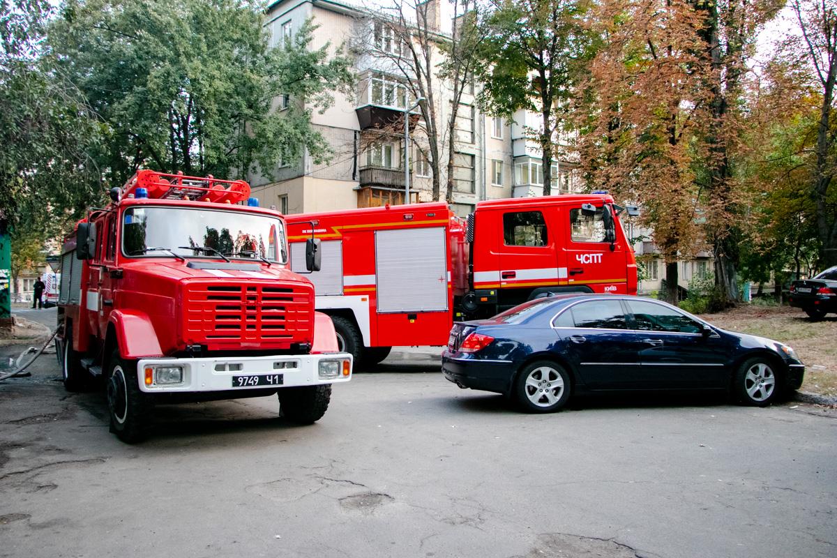 На месте работали две единицы техники спасателей и десять человек личного состава