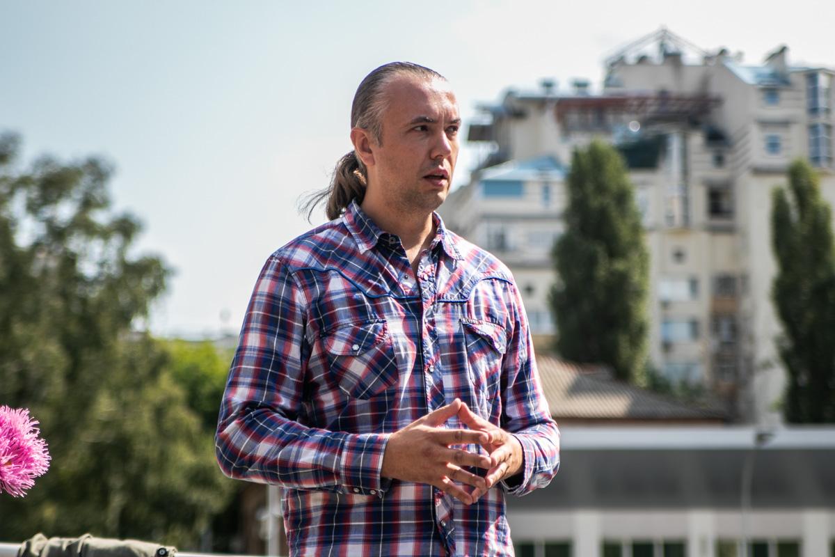 Побывал на открытии и директор трека Владимир Мельник