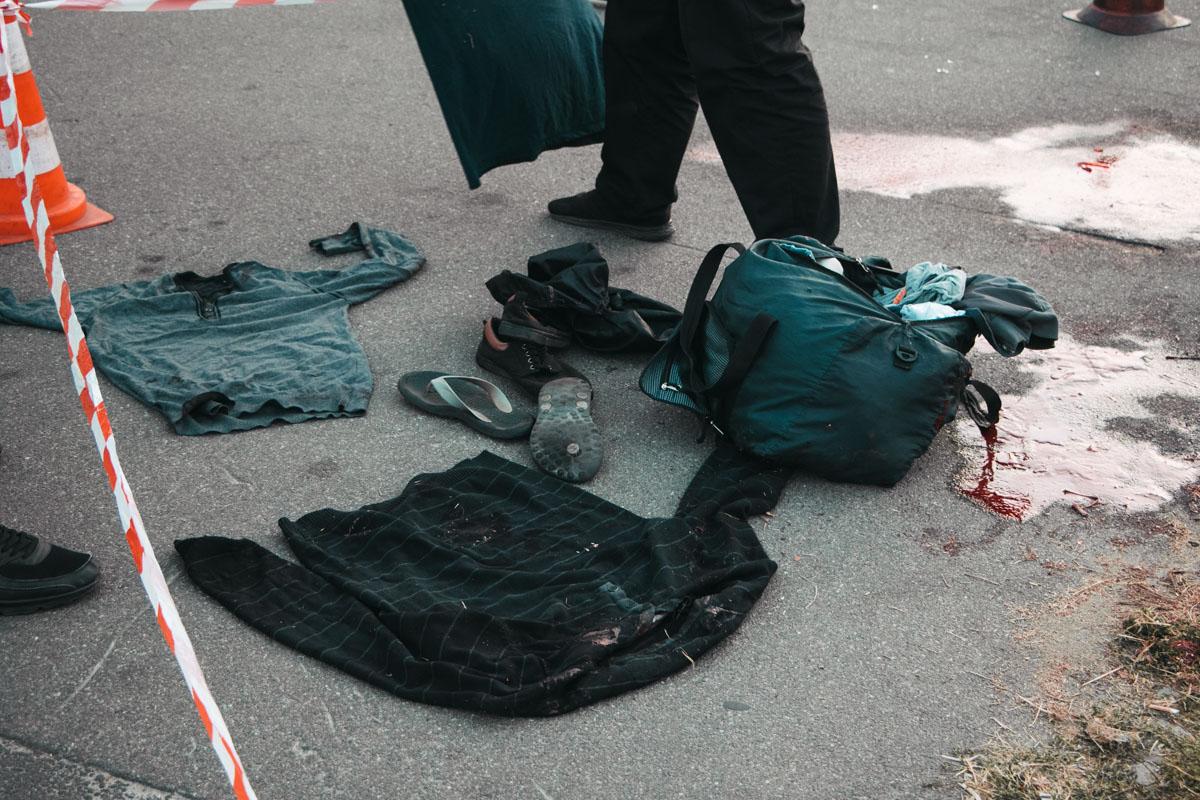 В 15 метрах от тела была огромная лужа крови и сумка с личными вещами