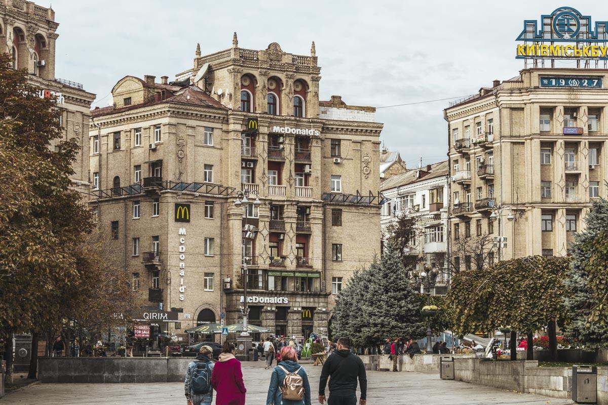В Киеве на Майдане прекратили незаконное строительство еще одного этажа старого дома