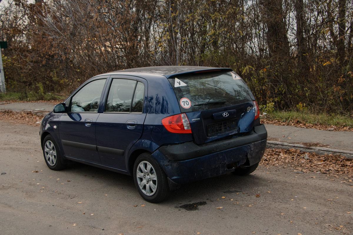 От удара Passat протянуло по дороге и он врезался в Hyundai