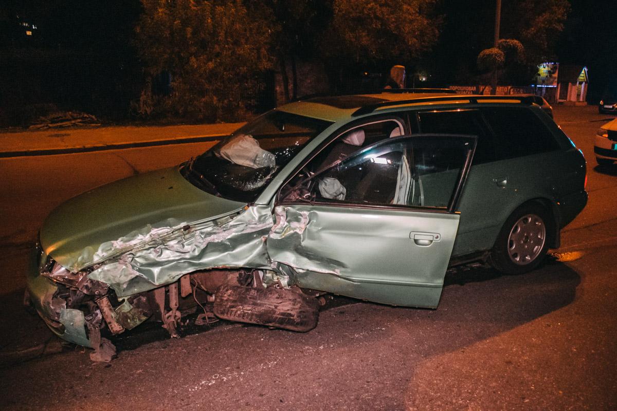 Водитель отделался травмой ноги