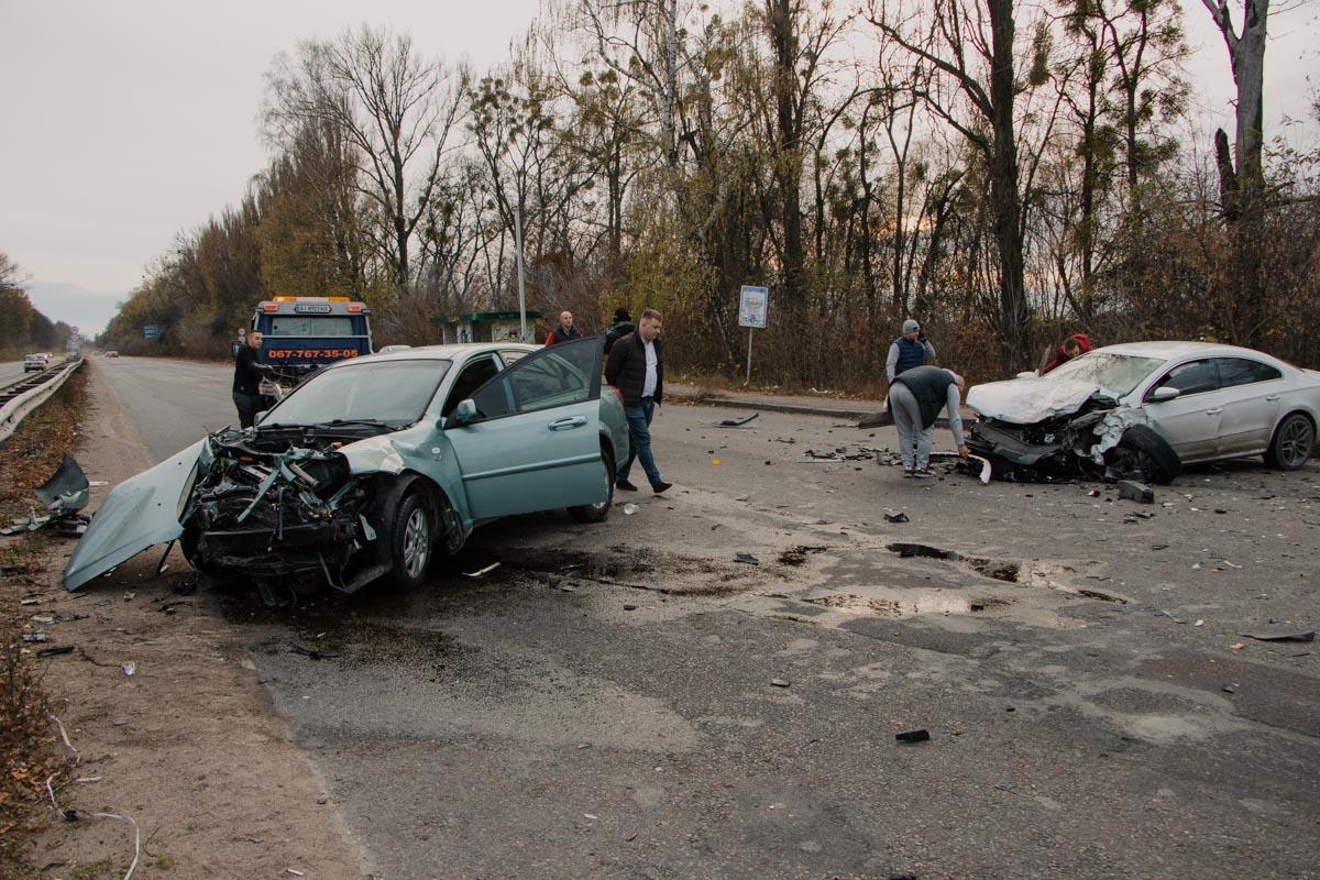 29 октября под Киевом недалеко от Глевахи произошло ДТП с участием трех автомобилей