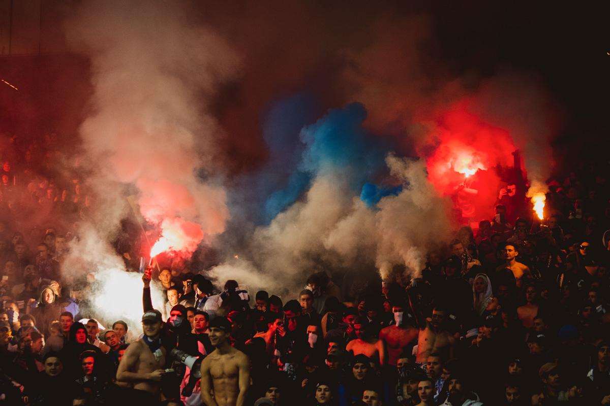 Киевские фанаты, впрочем как и всегда, были безупречны