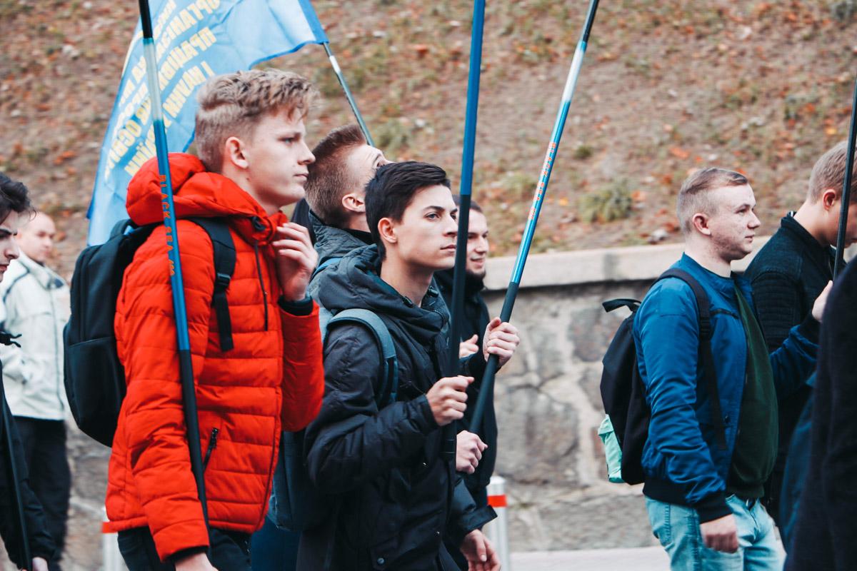 На акцию вышли и студенты