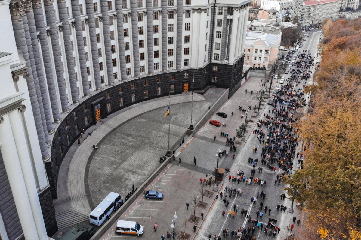 Улица Грушевского была перекрыта