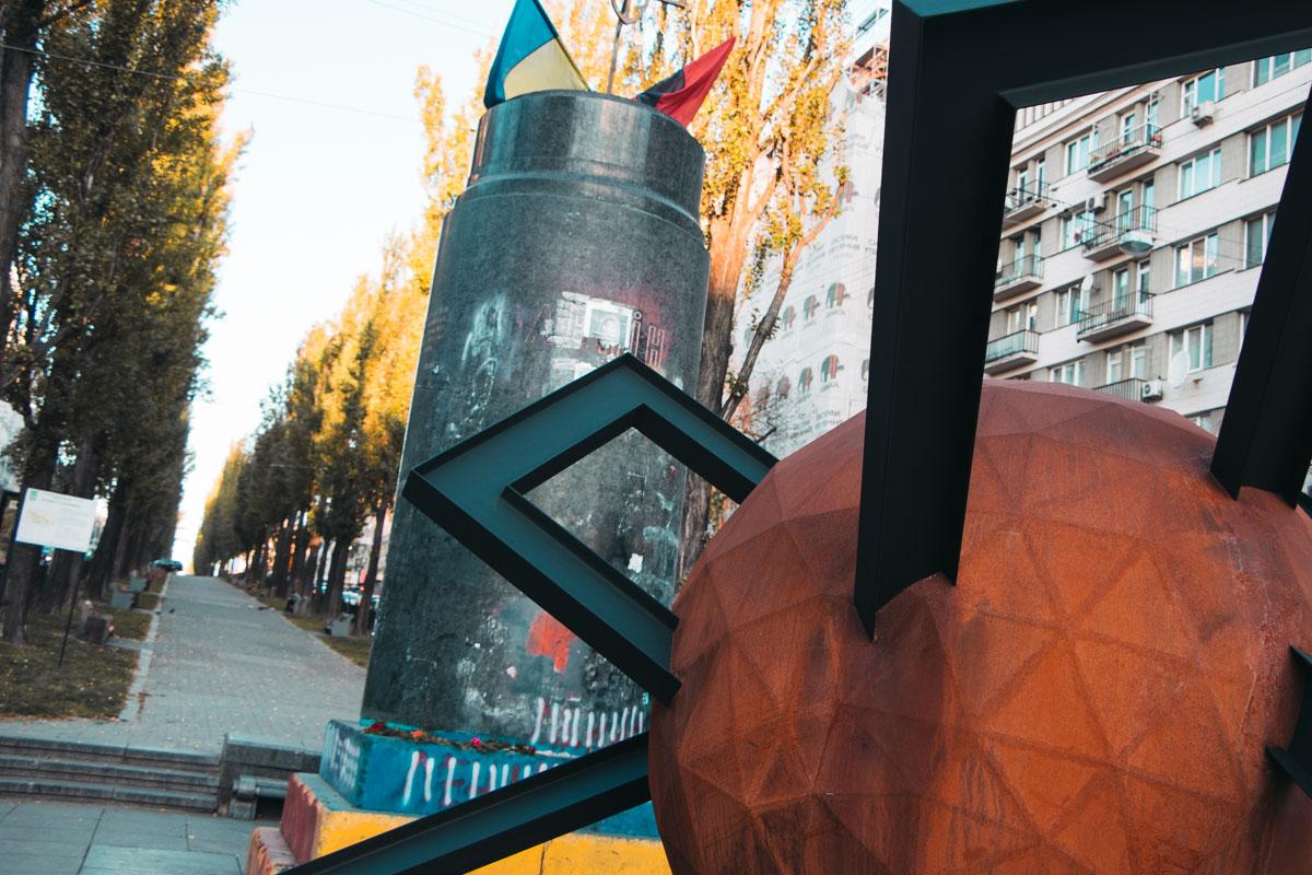 Скульптура появилась на месте бывшего памятника Ленину