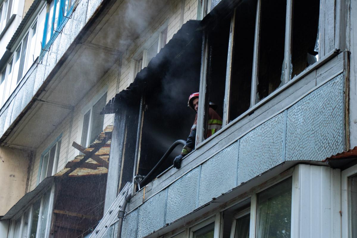 Первое возгорание произошло на втором этаже