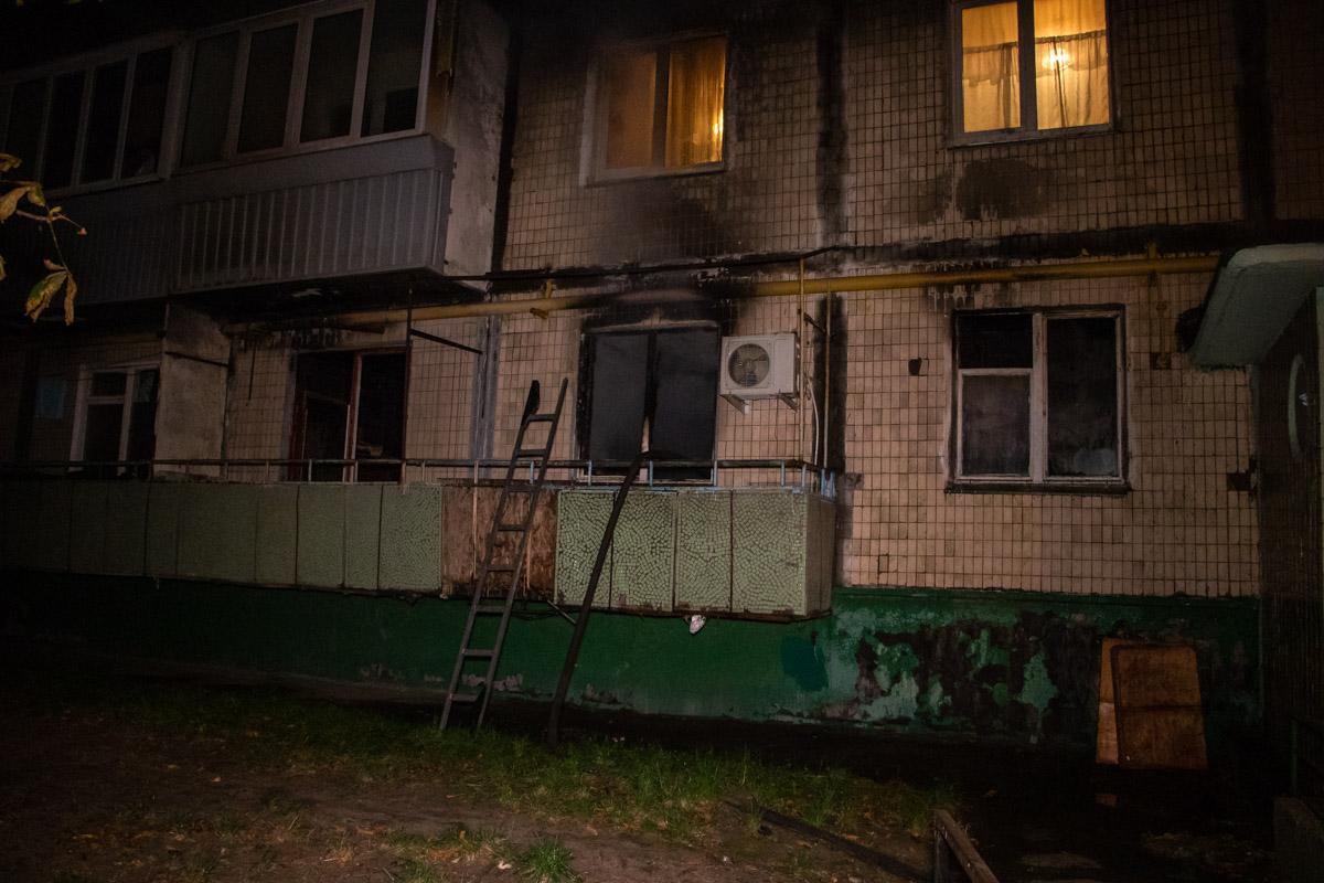 В Киеве на улице Флоренции вспыхнула квартира