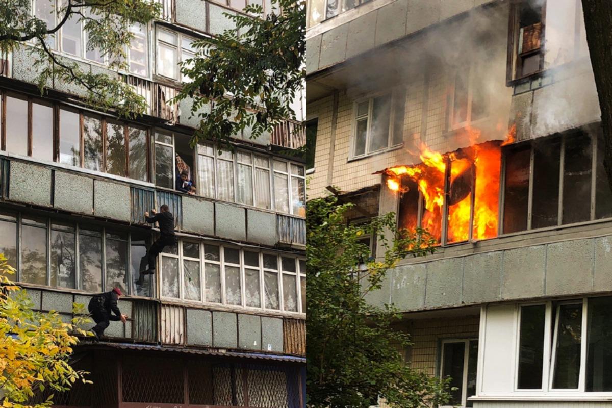 В среду, 9 октября, в Деснянском районе Киева произошел пожарю Фото: @dtp.kiev.ua