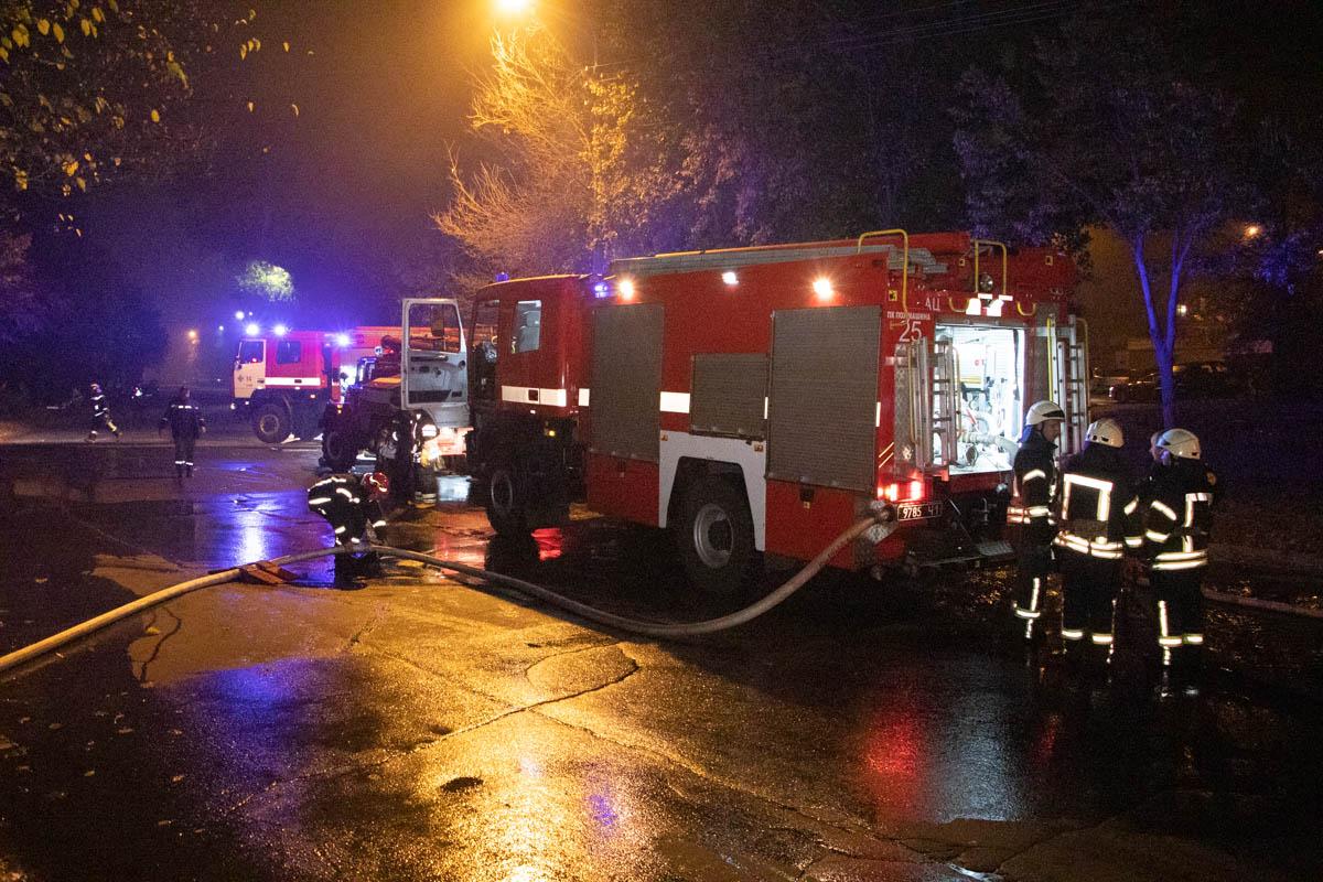 В Киеве произошел пожар в трехэтажном частном