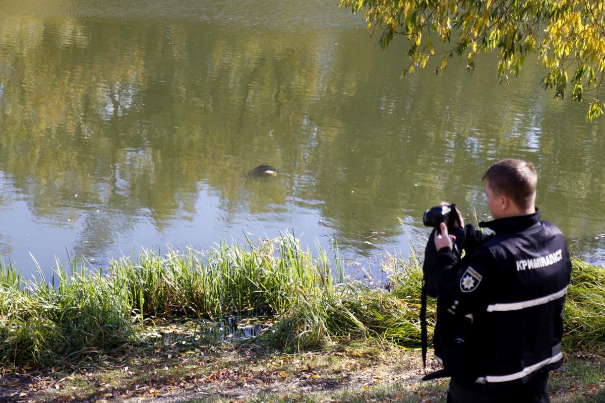 13 октября в Киеве на озере в парке «Победа» рыбаки заметили, что на поверхности воды находится что-то, похожее на тело человека