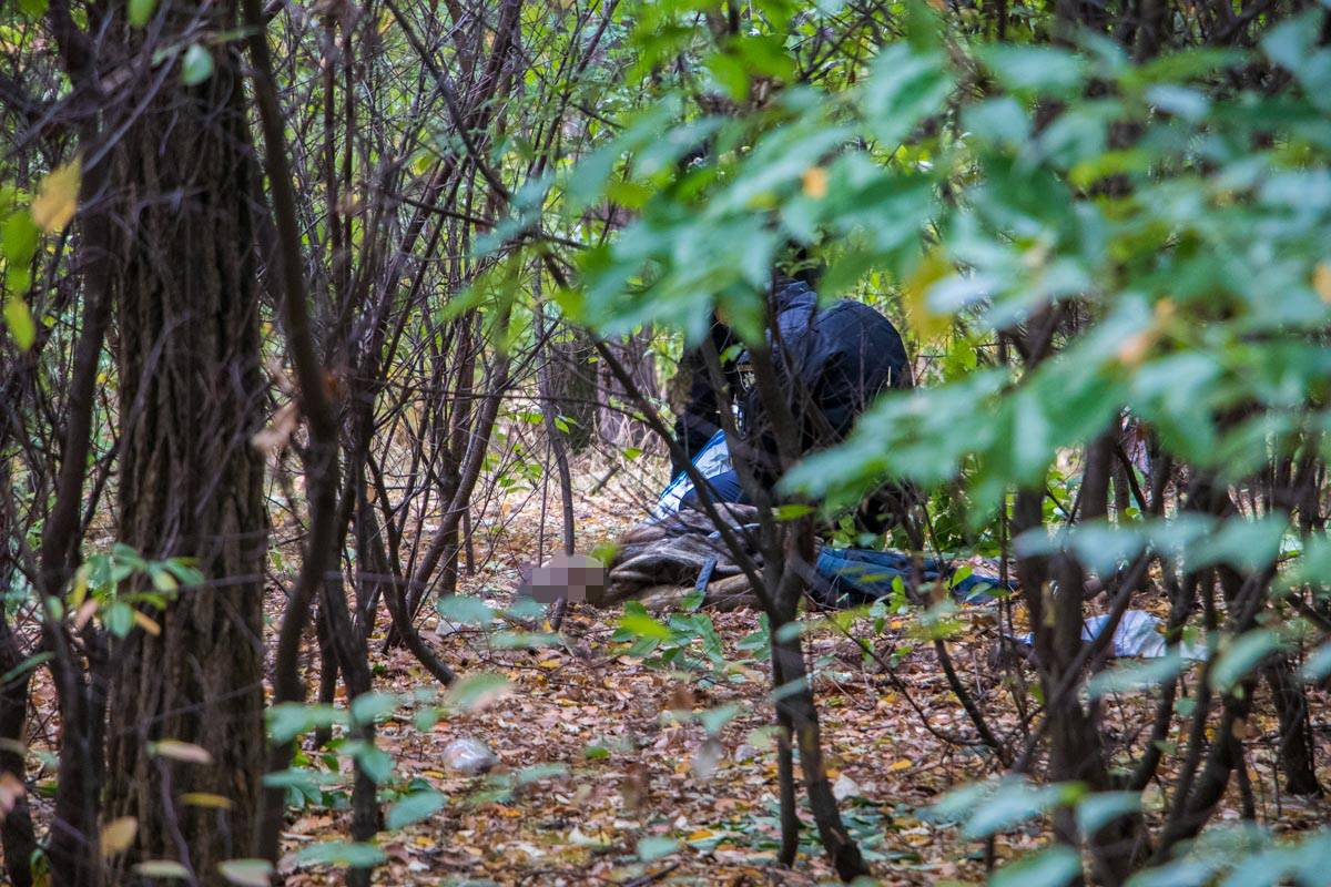 Тело нашли прохожие в парке Партизанской славы