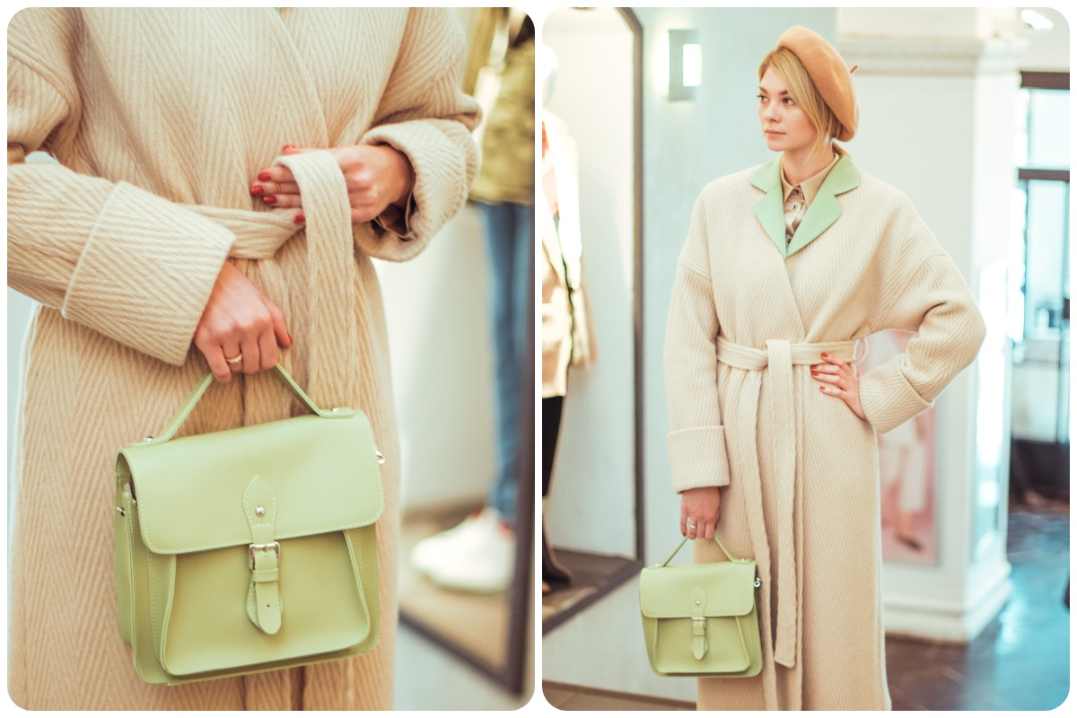 Пальто N&M, берет «Капелюх», сумка Anna Sun